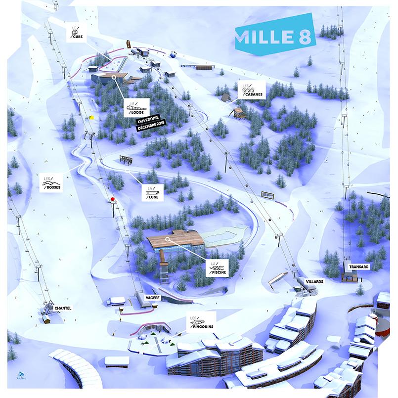 Maps Piste Maps of Les Arcs Lesarcsnetcom