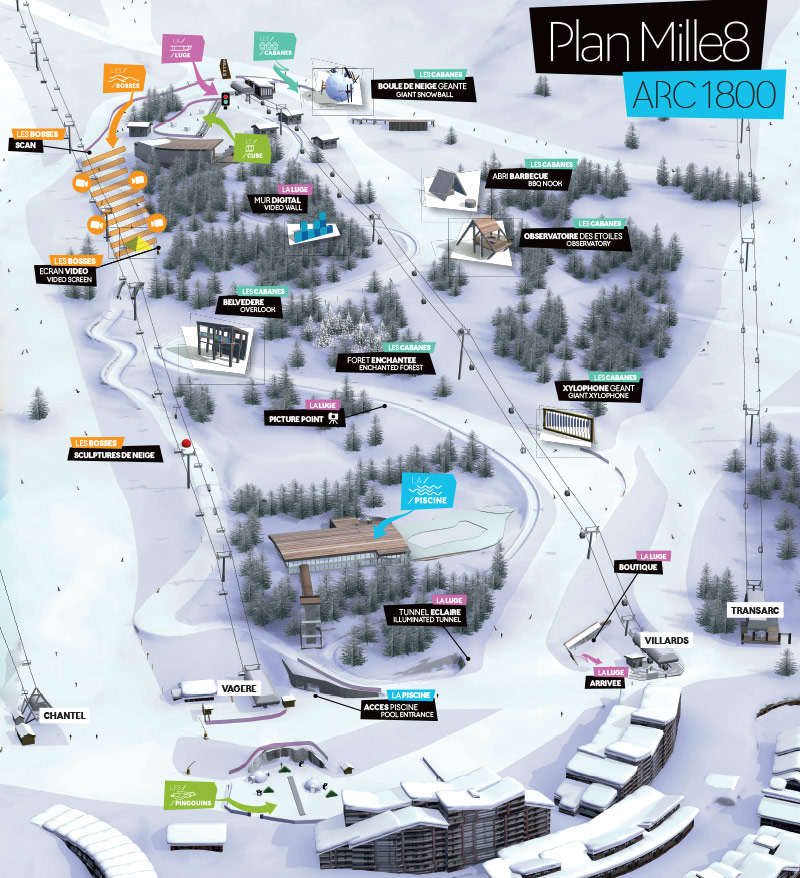 Station de ski les arcs mille8 for Piscine arc 1800