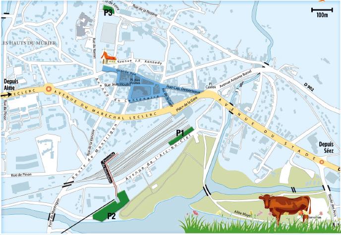 Maps access station de ski les arcs - Parking salon agriculture ...