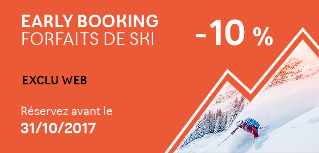 Early Booking forfait de ski
